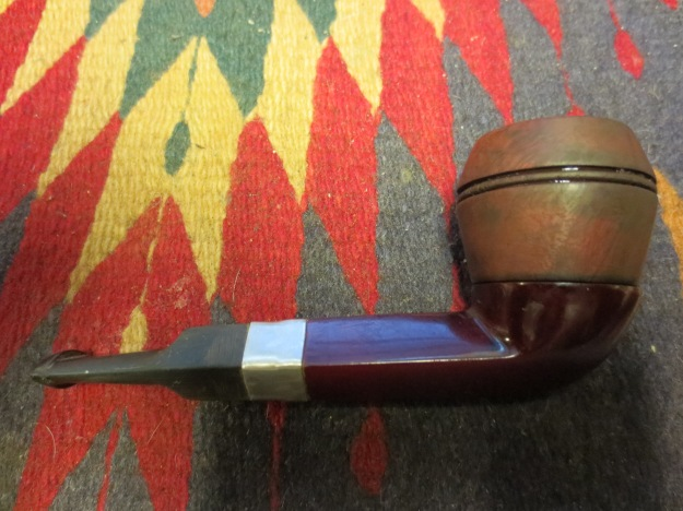 Right side of the newly stained bowl with a hand buffed surface.