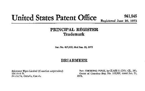 Briarmeer US Trademark patent