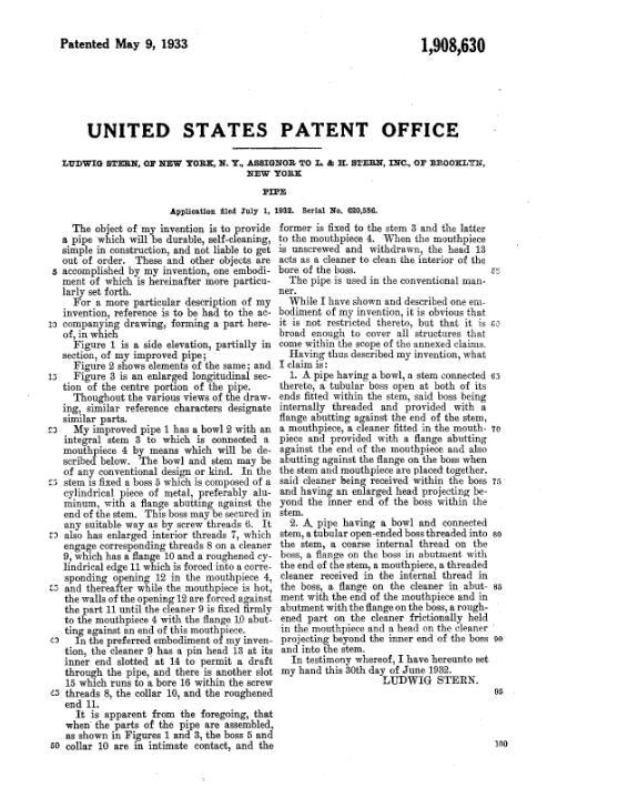 LHS1908630 Patent doc