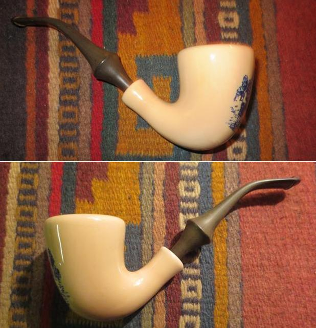 Cleaning up a Pair of Goedewaagen Delft Ceramic Pipes | rebornpipes
