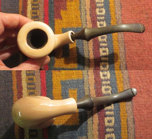 Cleaning up a Pair of Goedewaagen Delft Ceramic Pipes