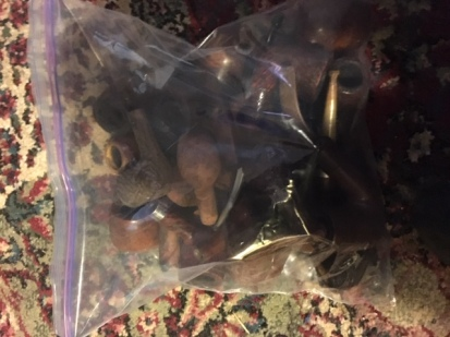 This bag contains bowls needing stems as well as complete pipes