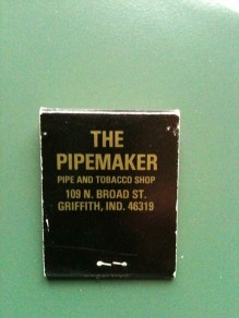 Pipemaker book matches back