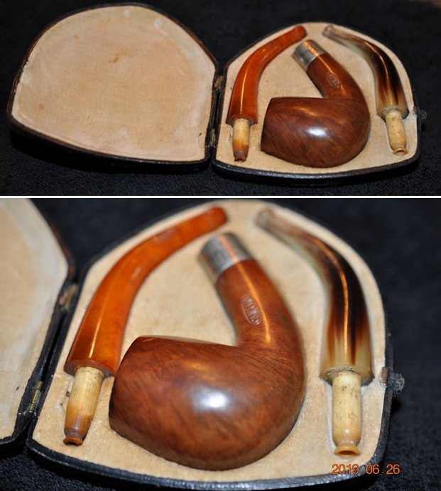 """AMBER LOT OF 2 NEW REPLACEMENT 3/"""" TOBACCO PIPE STEMS STRAIGHT"""